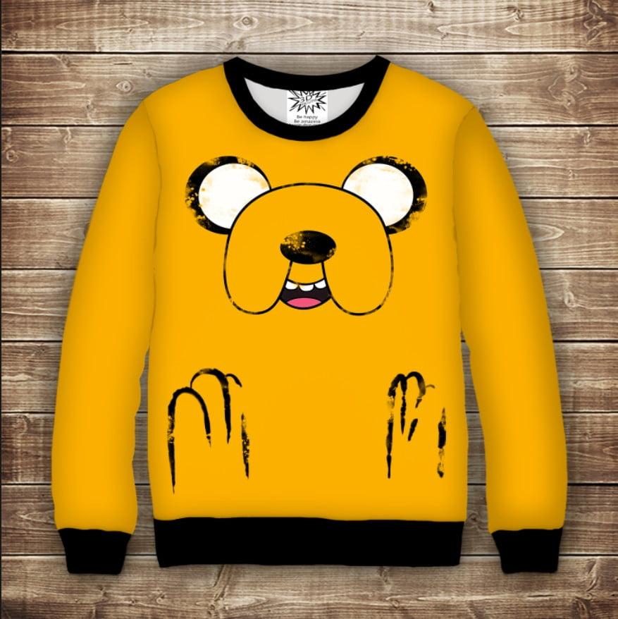 Свитшот 3D Adventure time Jake / Свитшот Время приключений Джейк