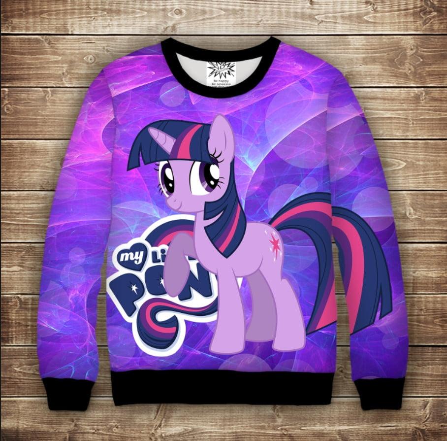 Світшот p принтом Іскорка My little pony Twilight