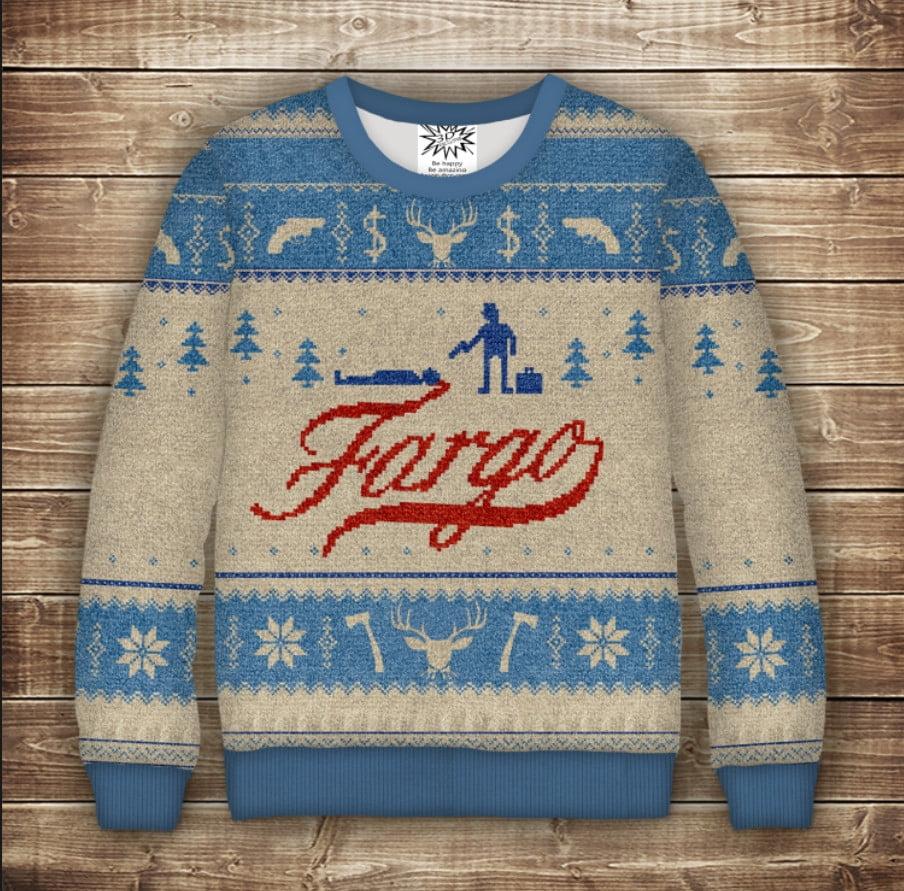 Світшот новорічний з принтом Fargo. Дорослі і дитячі розміри