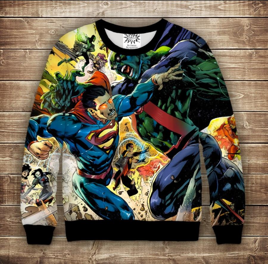 Світшот з принтом Superman Marvel Дорослі і дитячі розміри