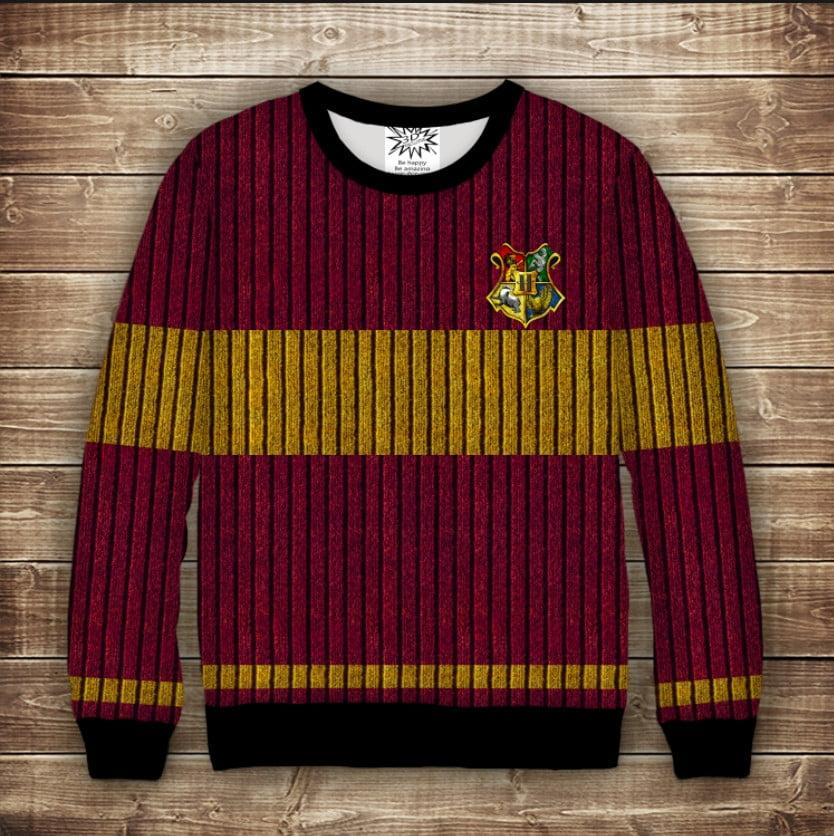 Свитшот 3D Harry Potter Факультет Гриффиндор