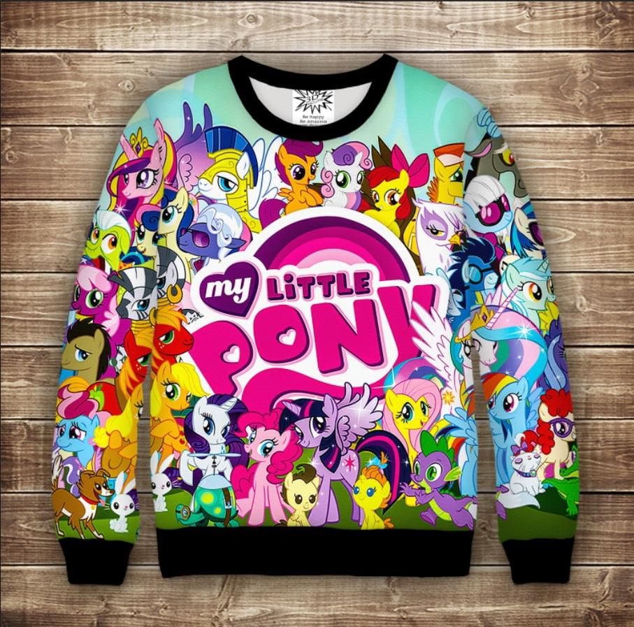 Світшот c 3D принтом на тему Пони My Little Pony