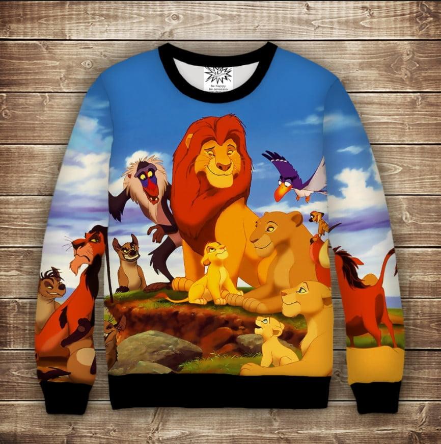 Свитшот с 3D принтом на тему: THE LION KING Король Лев