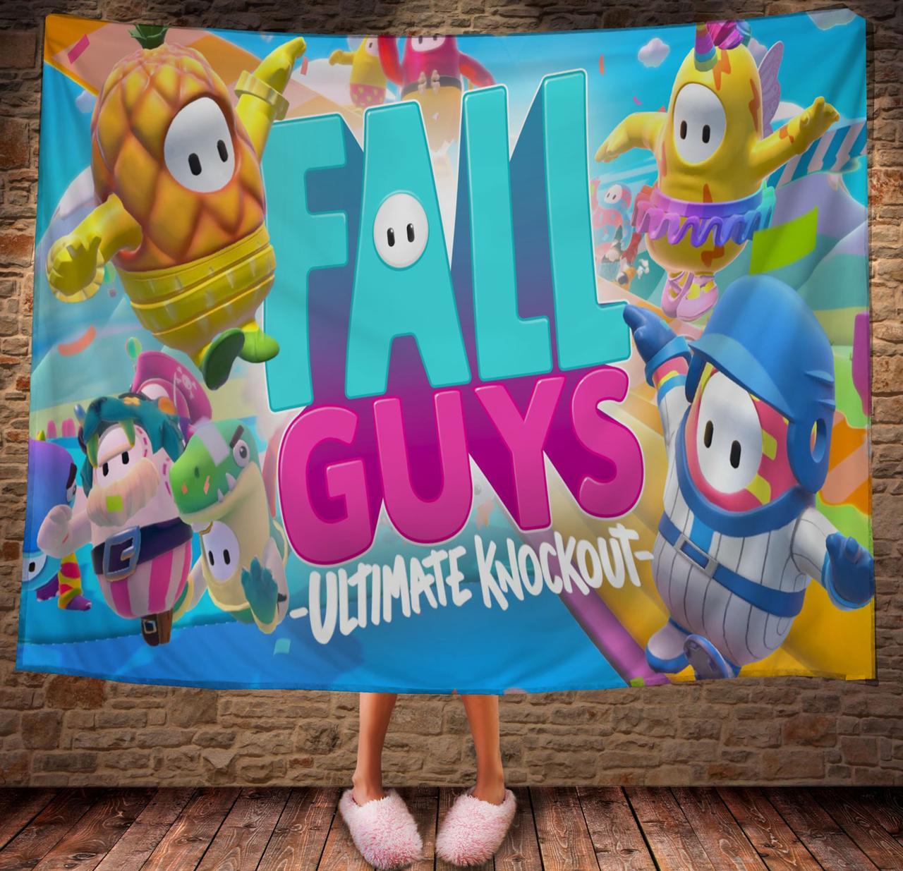 Плед с 3D принтом Fall Guys Ultimate Knockout Все герои