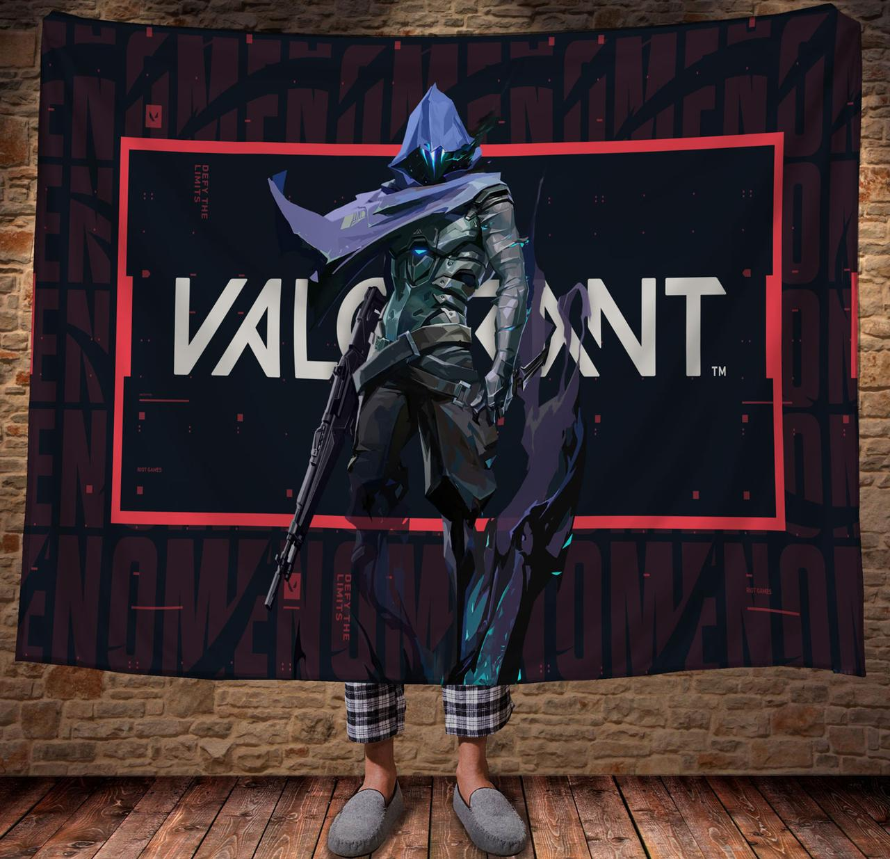Плед с 3D принтом Valorant Omen-phantom of a memory
