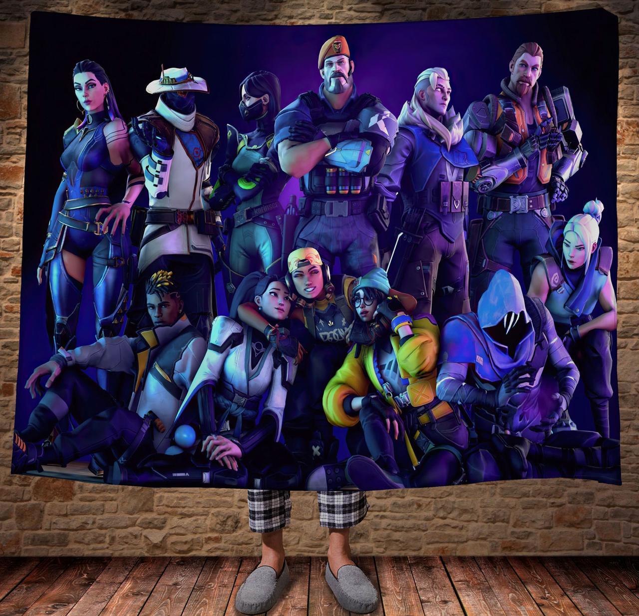 Плед с 3D принтом Valorant All Characters