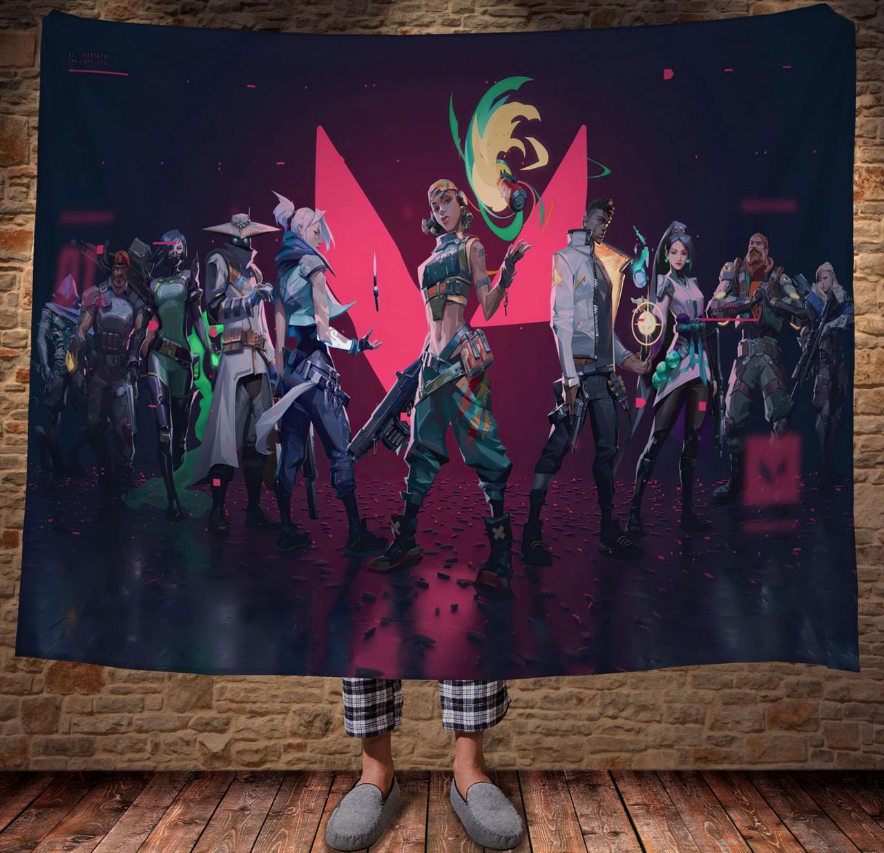 Плед с 3D принтом Valorant All Heroes
