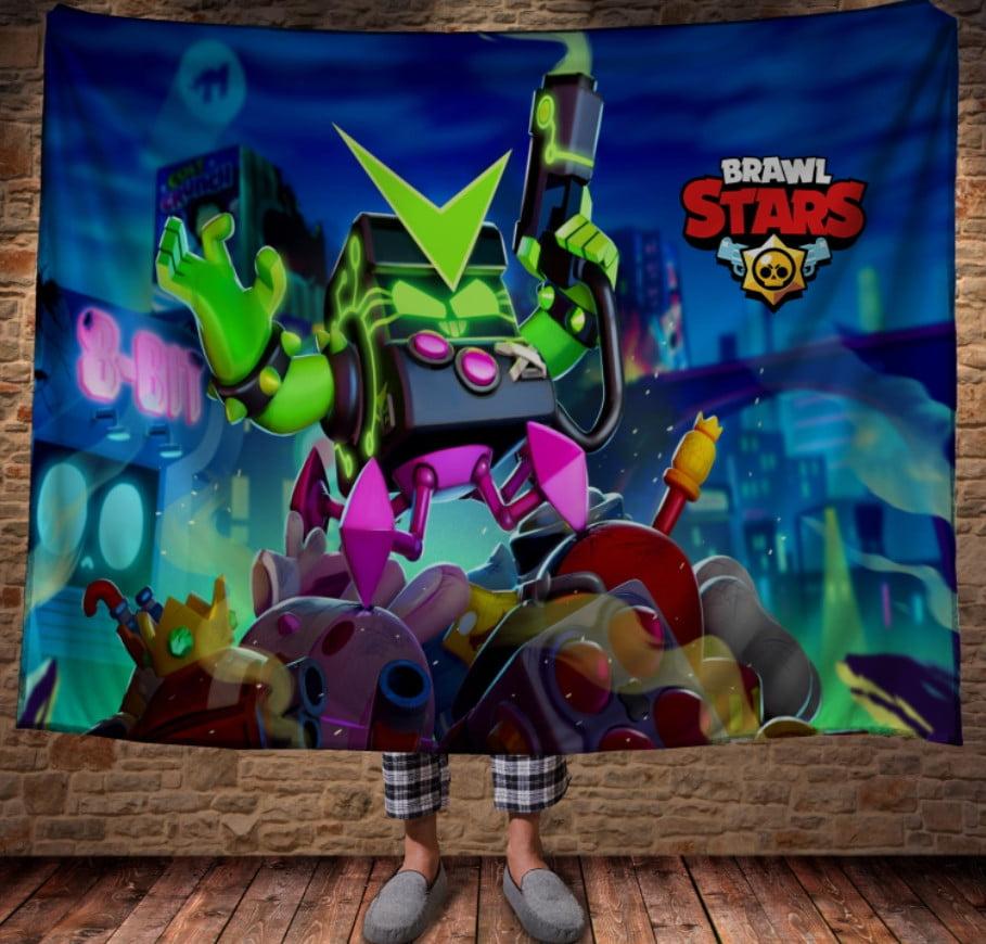 Плед с 3D принтом на тему-Бравл Старс Вирус