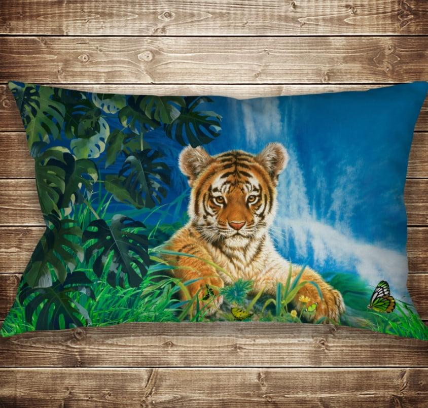 Подушка 50х70 см. C 3D принтом Тигр