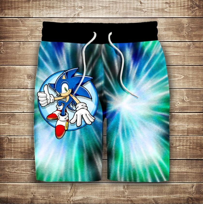 Шорты с 3D принтом на тему: Sonic Go