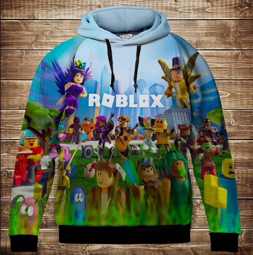 Толстовка с 3D принтом на тему ROBLOX Взрослые и детские размеры