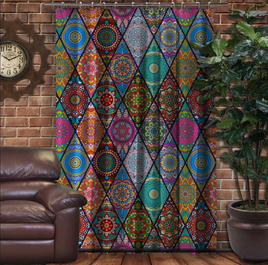 Штора с 3D принтом на тему - Пэчворк Колор Patchwork color