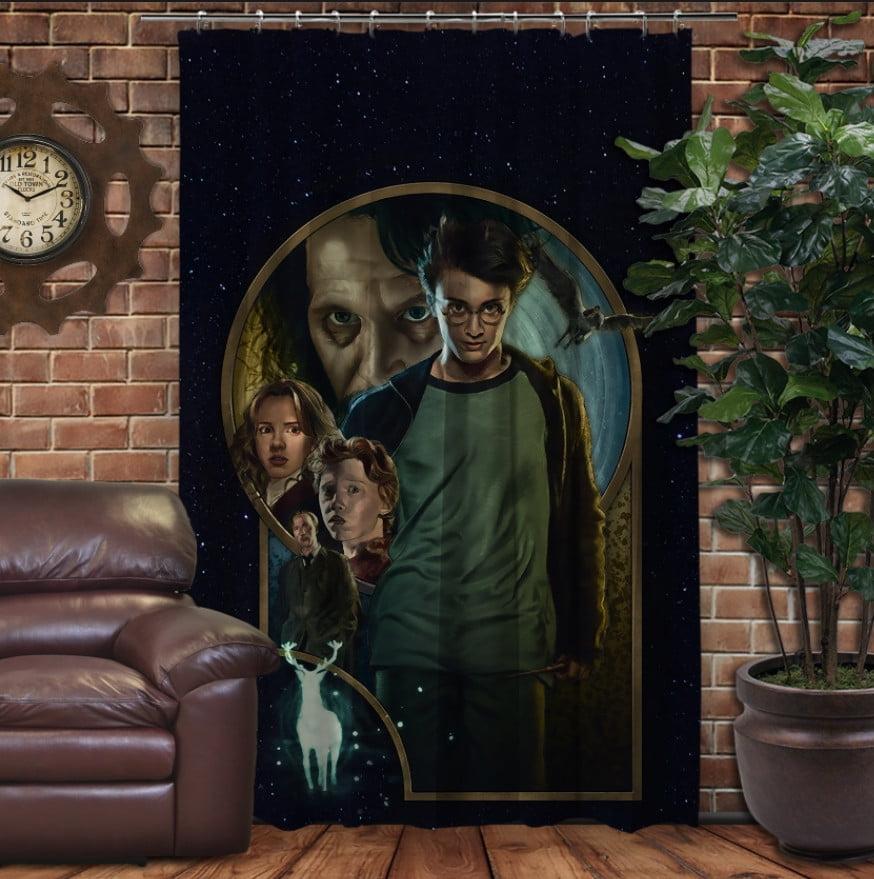 Штора с 3D принтом на тему - Гарри Поттер и узник Азкабана
