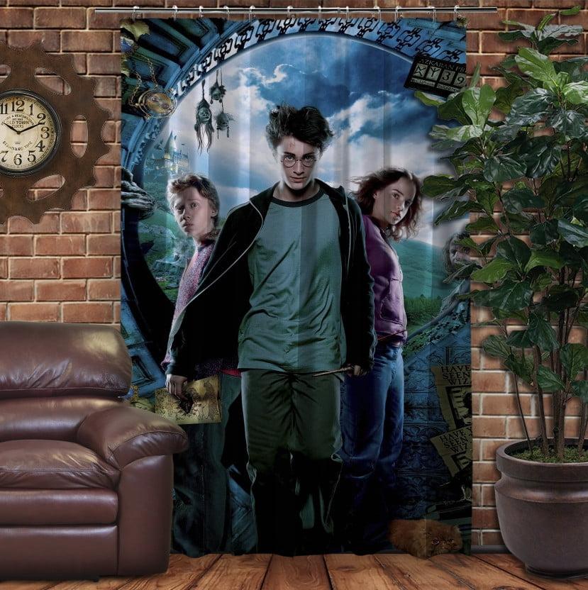 Штора с 3D принтом на тему - Гарри Поттер и Карта Мародеров