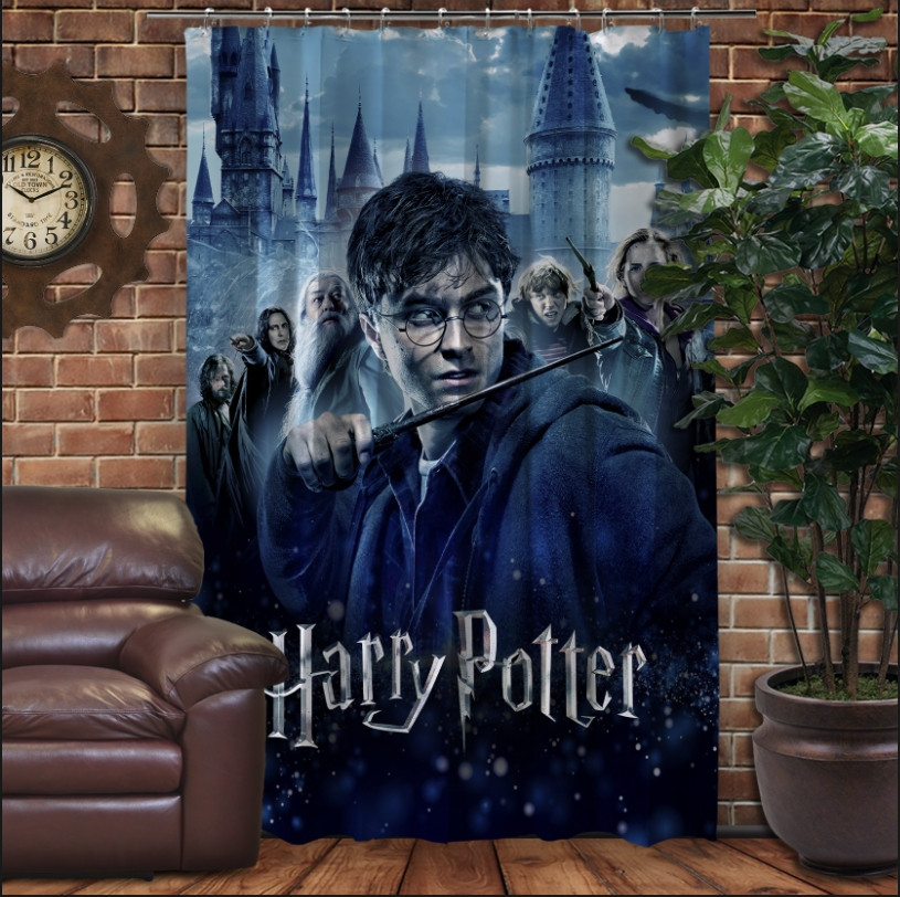 Штора с 3D принтом на тему - Гарри Поттер Перед боем