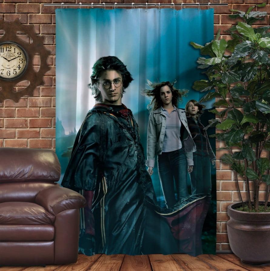 Штора с 3D принтом на тему - Гарри Поттер Рассвет и Магия