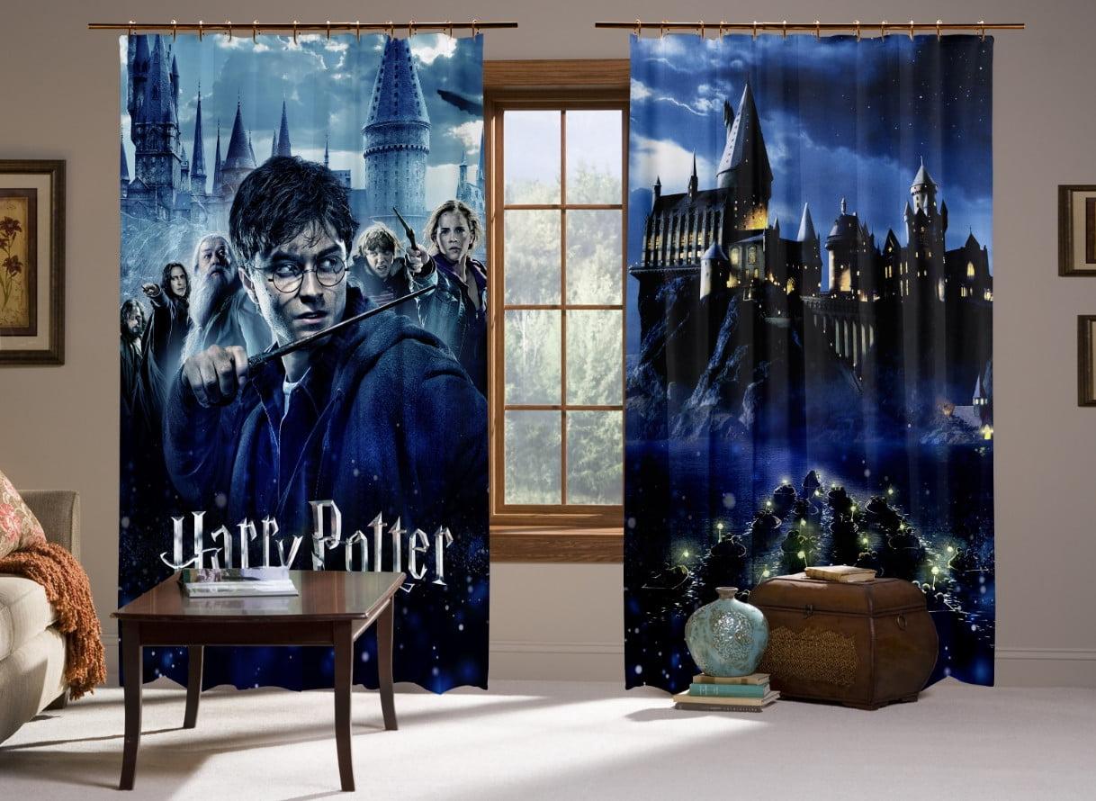 Шторы с 3D принтом на тему: Гарри Поттер Перед боем