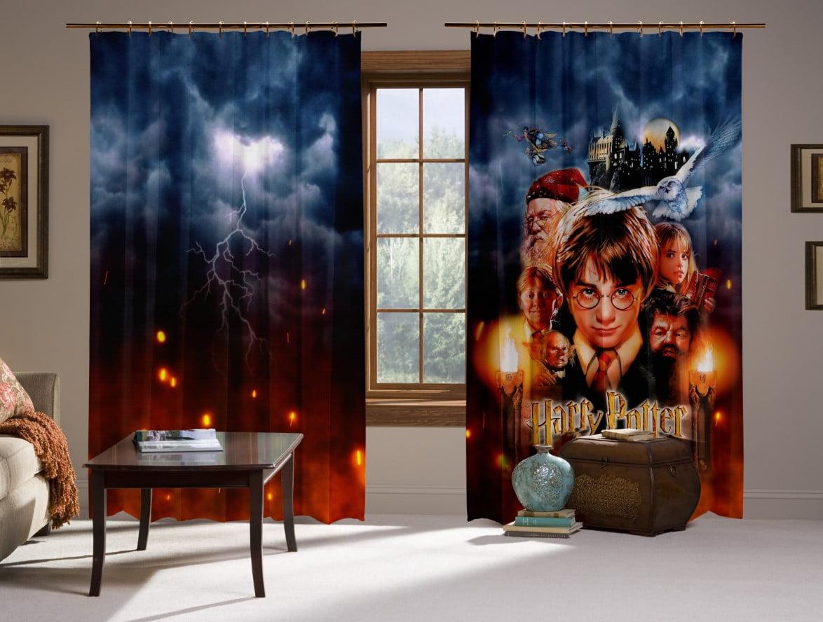 Шторы с 3D принтом на тему: Гарри Поттер и Философский Камень 1 курс