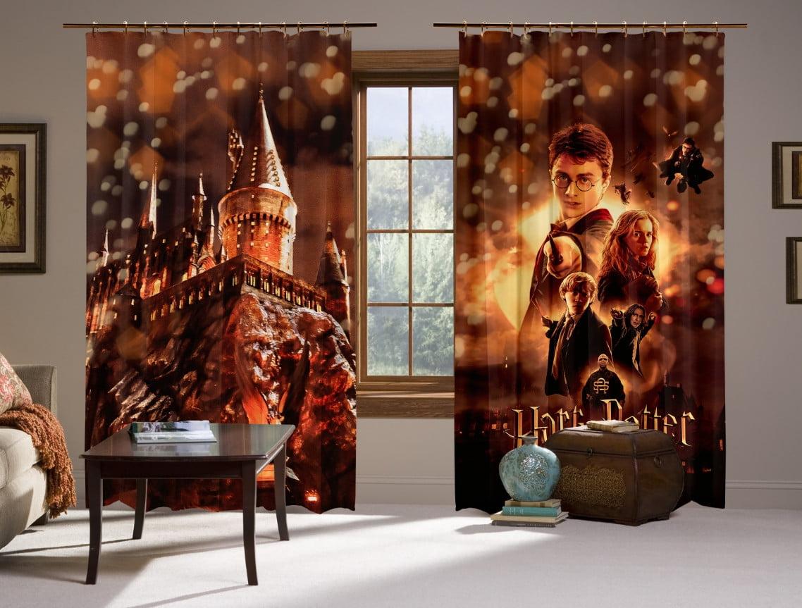Шторы с 3D принтом на тему: Гарри Поттер Огонь и битва