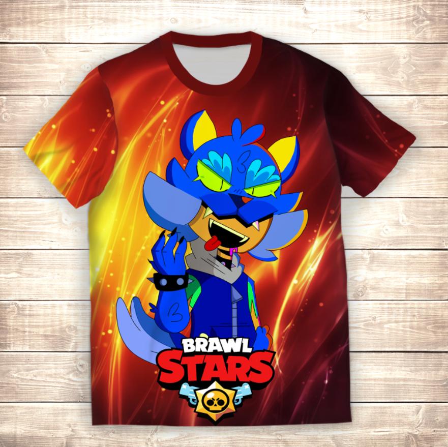 Футболка 3D Leon Werewolf Art Brawl Stars