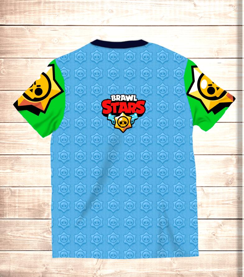 Футболка 3D Леон Старс / Leon Stars Brawl Stars