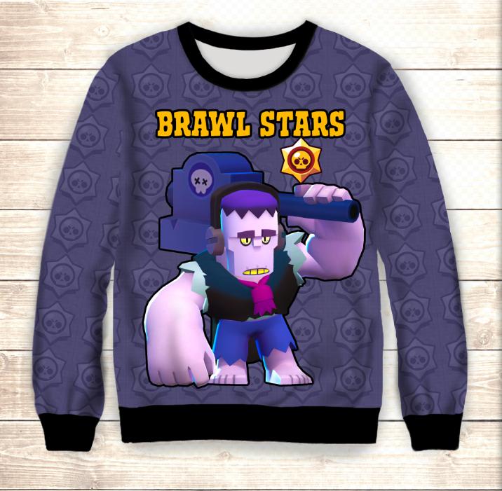 Свитшот 3D Frank Hello Brawl Stars