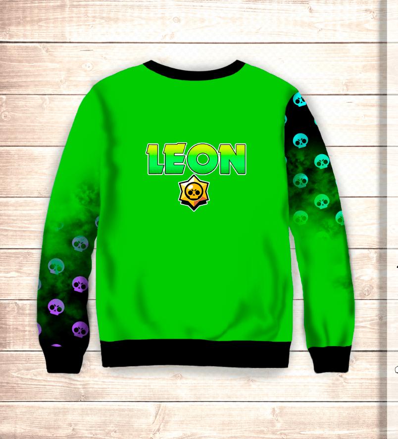 Свитшот 3D Leon & Scull