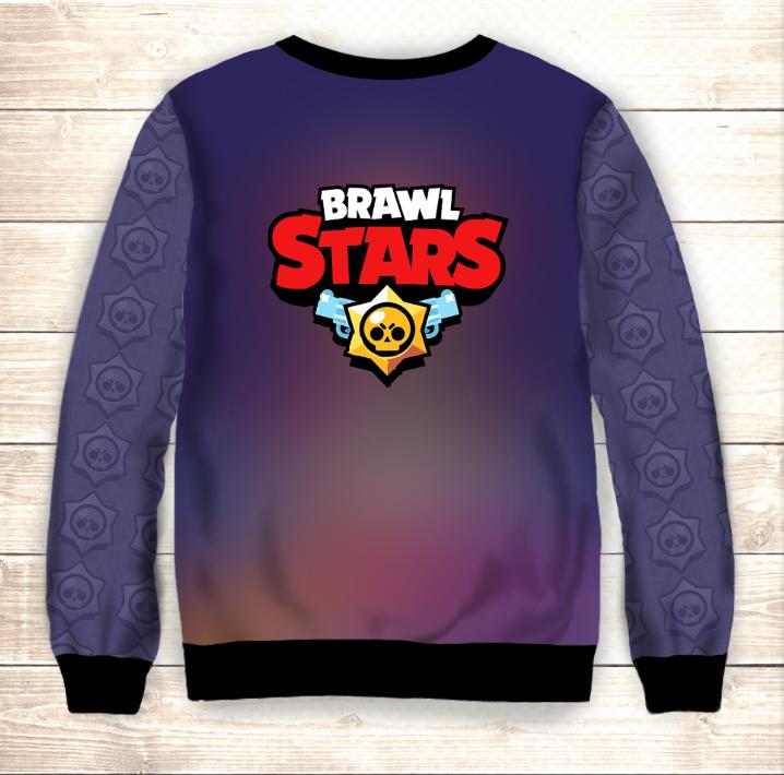 Свитшот 3D Bands Brawl Stars