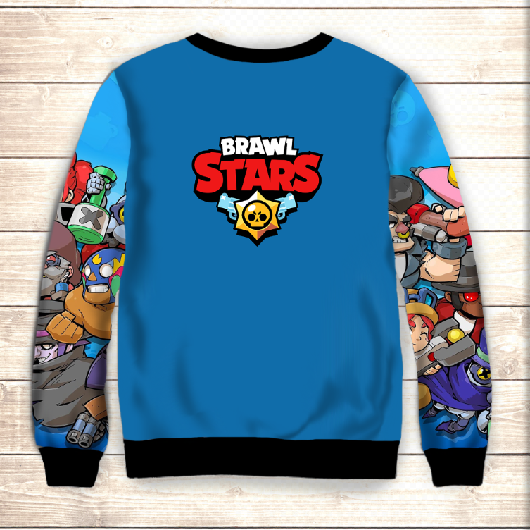 Свитшот 3D Бравлеры All Heroes Brawl Stars