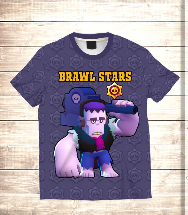 Футболка 3D HELLO FRANK Brawl Stars