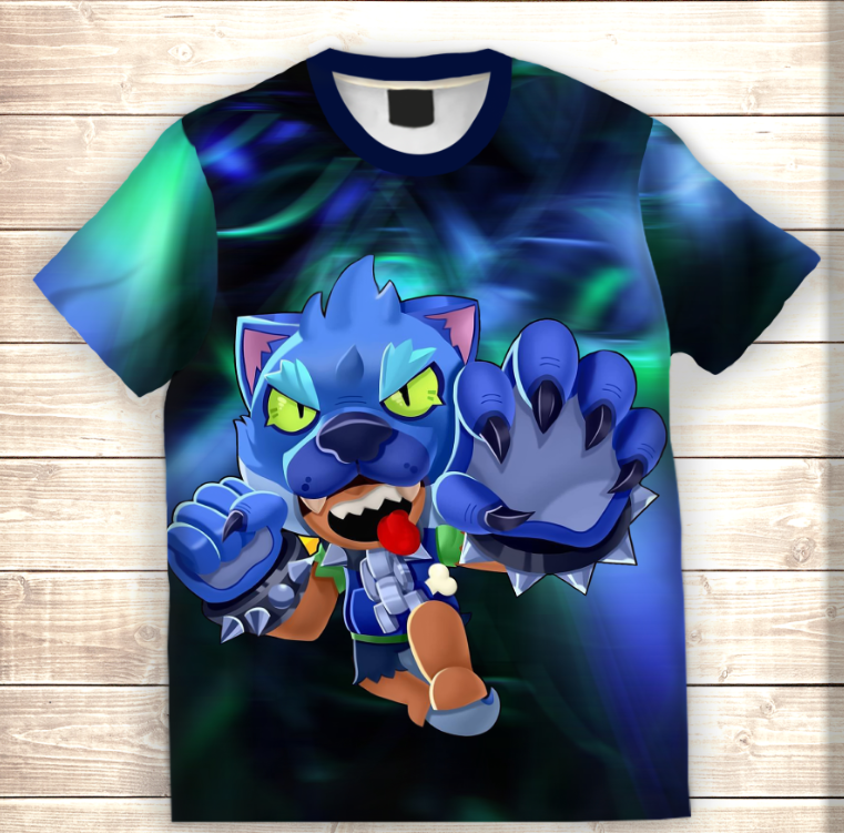 Футболка 3D Leon Werewolf (Леон Оборотень) Brawl Stars
