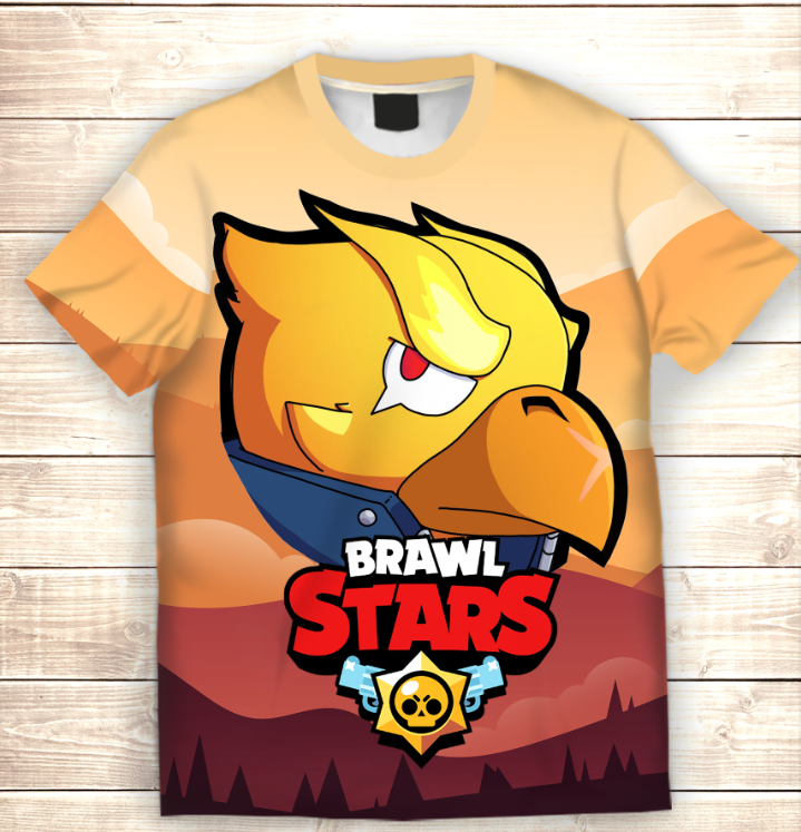 Футболка 3D Crow Phenix Brawl Stars