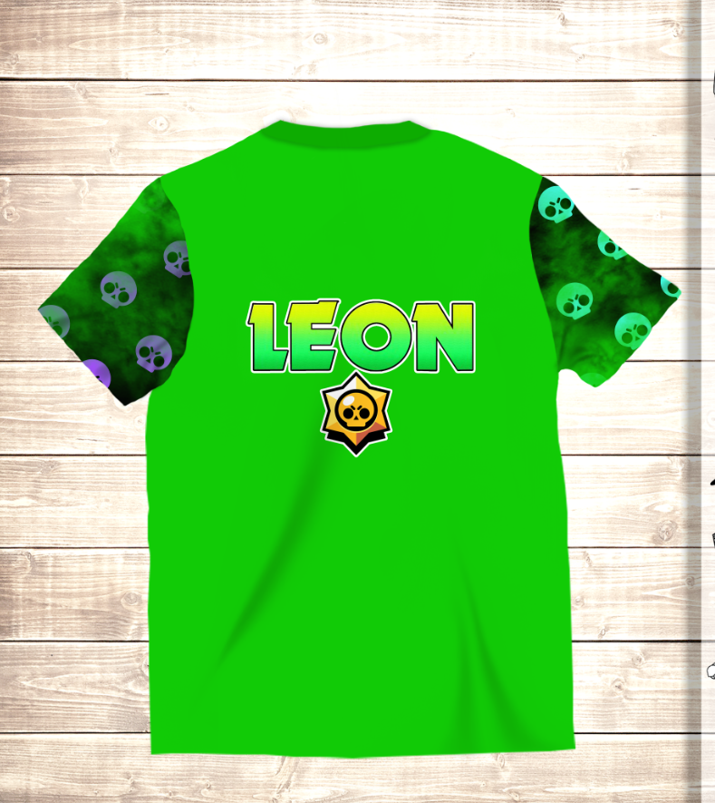 Футболка 3D LEON SCULL Brawl Stars