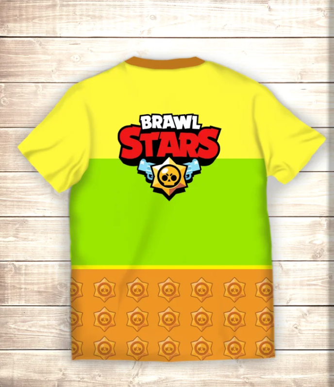 Футболка 3D Crow Neon Brawl Stars