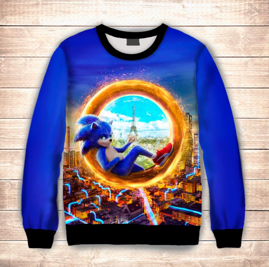 Свитшот Еж Sonic