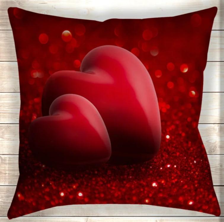 Большая подушка Два сердца вместе навсегда 70х70