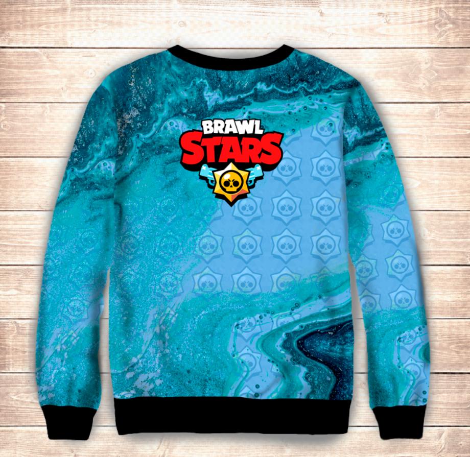 Свитшот 3D DARRYLL Brawl Stars