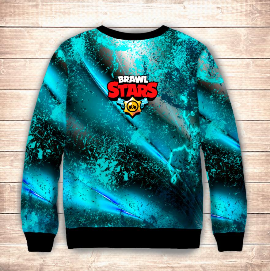 Свитшот 3D STARS DARK CROW MECHA Brawl Stars