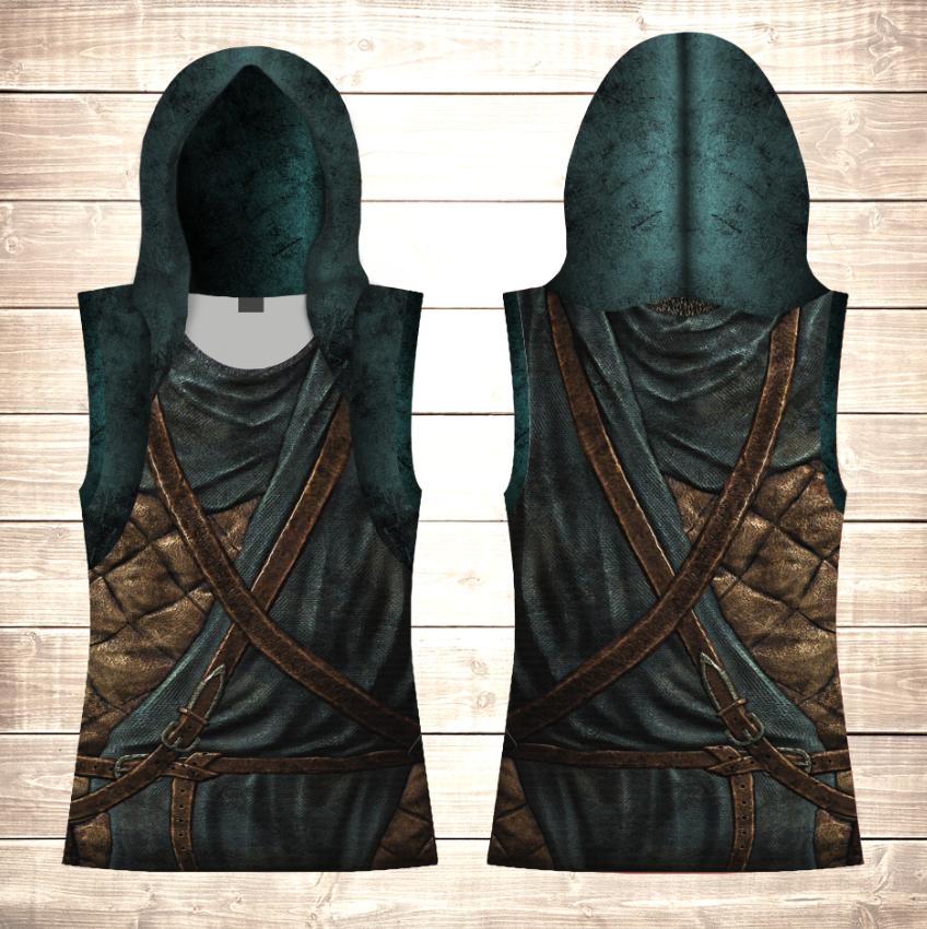 Майка 3D с капюшоном Skyrim Armor