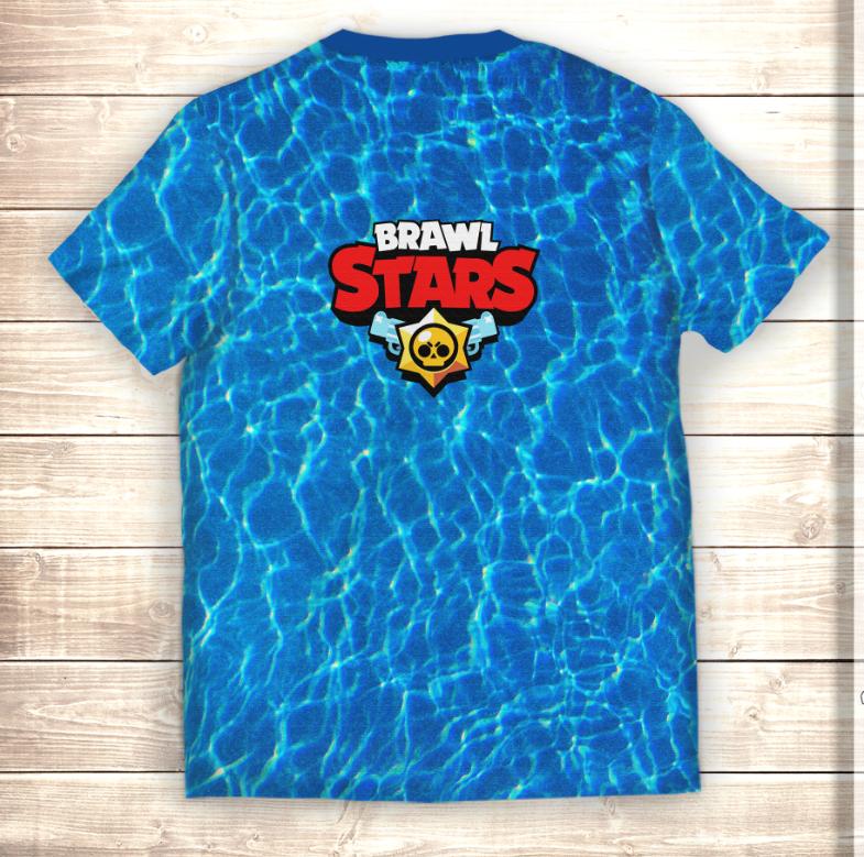 Футболка 3D Leon Shark Brawl Stars