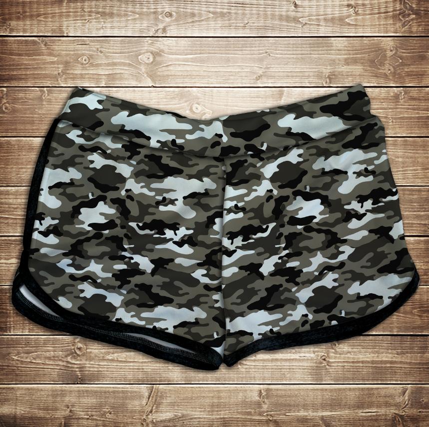 Шорты 3D принт женские-dora camuflage