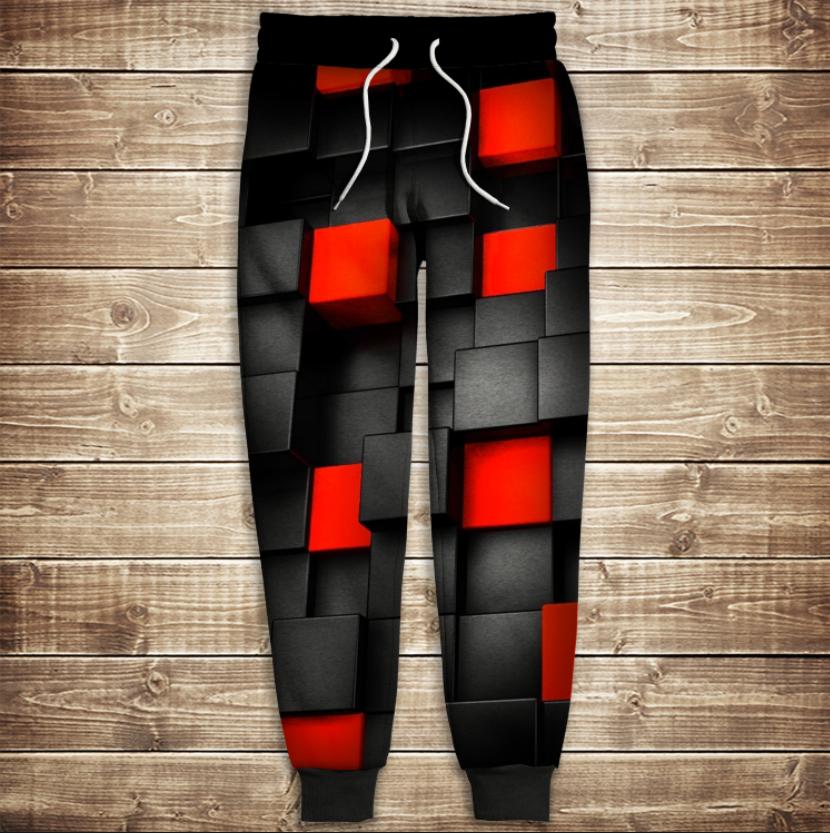 Штаны 3D-undegraund red cub