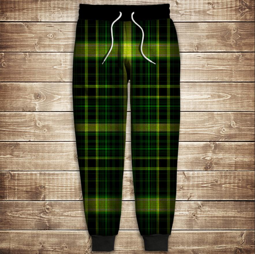 Штаны 3D-green tartan