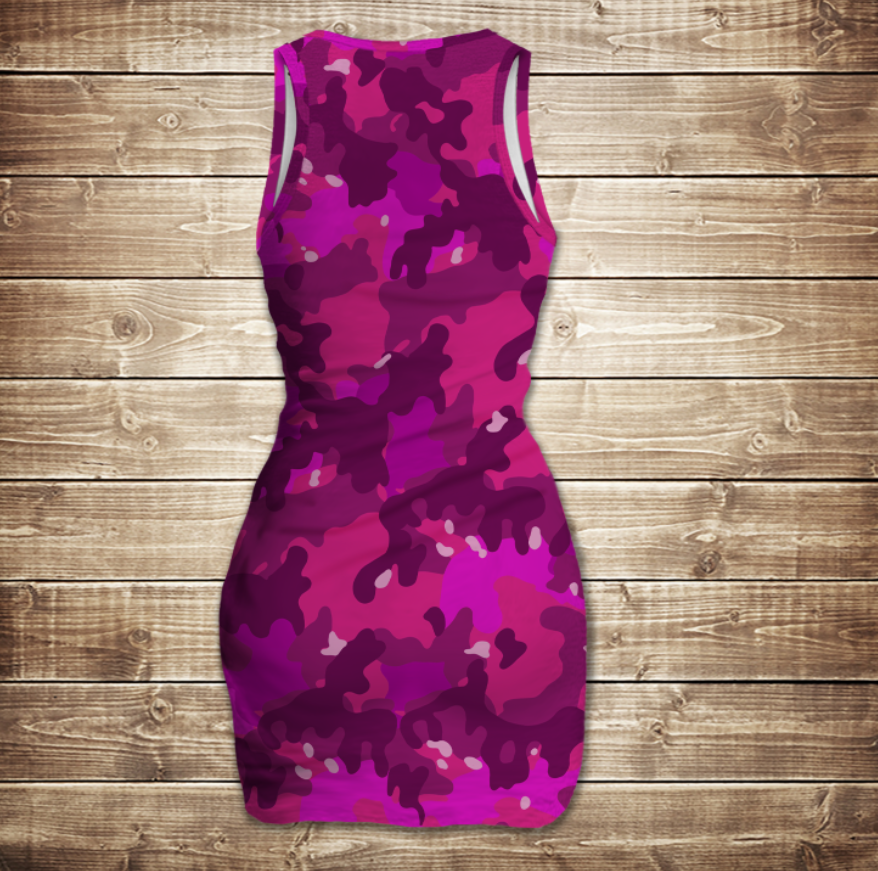 Платье-майка 3D-Pink camuflage