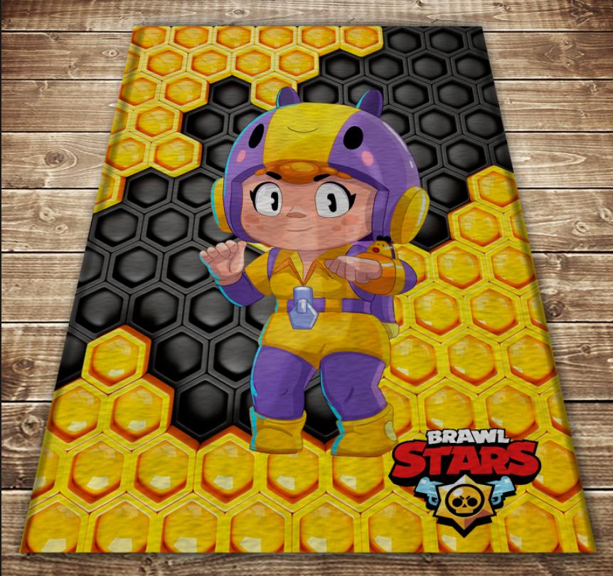 Плед с 3D принтом-Бравл Старс Беа Brawl Stars