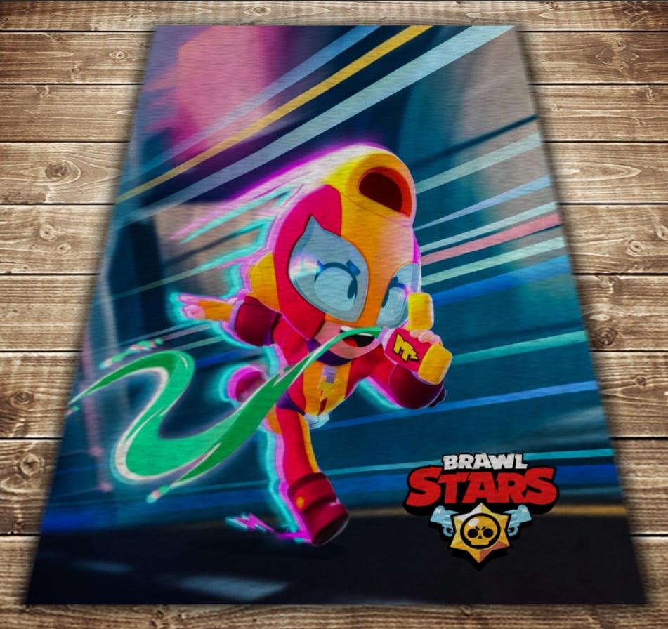 Плед с 3D принтом-Бравл Старс Макс Старт Brawl Stars