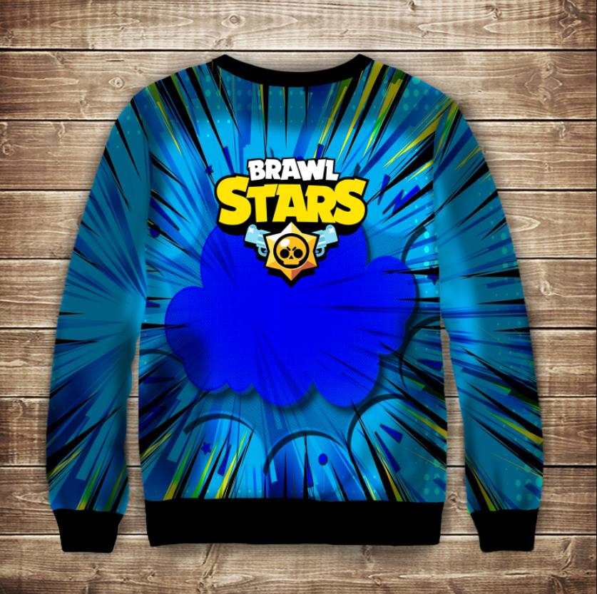 Свитшот 3D Бравл Старc Ток Brawl Stars