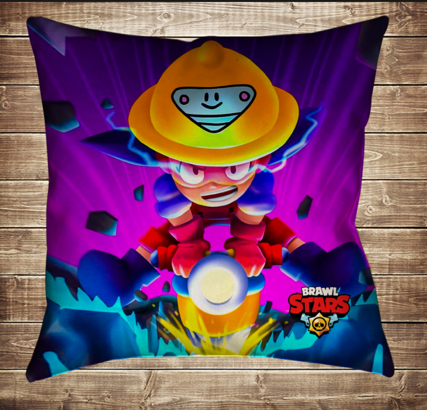 Подушка 3D-Бравл Старс Джеки и бурь  подушка