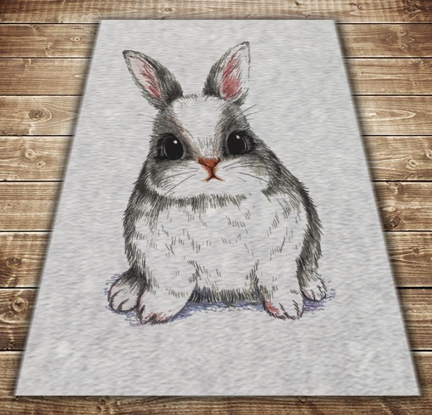 Плед с 3D принтом-следуй за белым кроликом