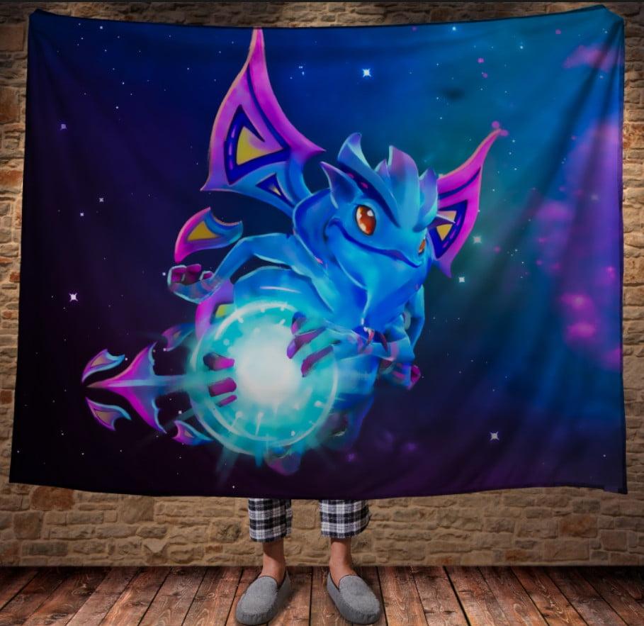 Плед с 3D принтом -Dota Puck - Faerie Dragon